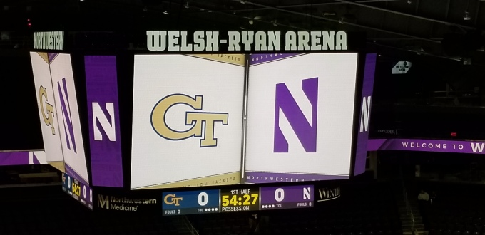 Northwestern Outlast Georgia Tech's Second Half Comeback in the Big Ten/ACC Challenge