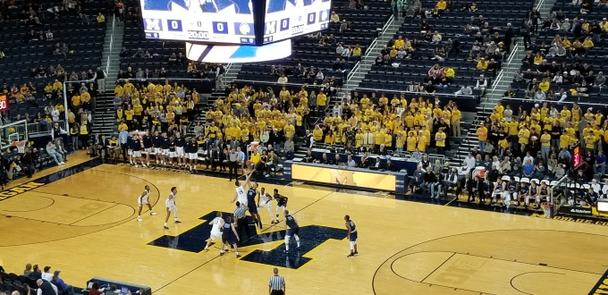 Number 19 Michigan Dominates Northwood in Ann Arbor