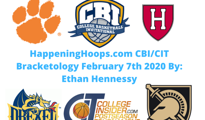 HappeningHoops.com CBI/CIT Bracketology Number 7 February 7th 2020