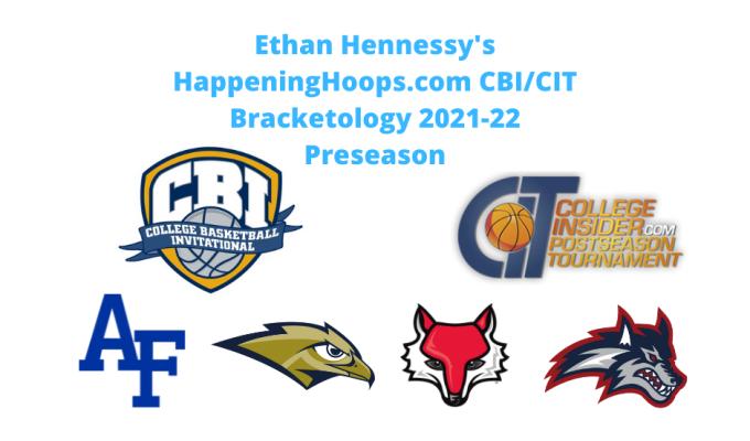 Happening Hoops 2021-22 Pre-Season CBI/CITBracketology